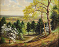 Texas:Early Texas Art - Impressionists, DOLLIE NABINGER (1905-1998). Dogwood Trail Palestine, Texas.Oil on canvasboard. 16in. x 20in.. Signed lower left. Pro...