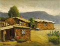 Texas:Early Texas Art - Impressionists, ROLLA TAYLOR (1871-1970). El Paso Shack, 1920's. Oil oncanvasboard. 16in. x 20in.. Signed lower left. Partial inscripti...