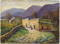 Texas:Early Texas Art - Impressionists, ROLLA TAYLOR (1871-1970). La Villa Santiago, Mexico, 1920's- 1930's. Oil on canvasboard. 9in. x 12in.. Signed lower lef...
