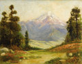 Texas:Early Texas Art - Impressionists, ROLLA TAYLOR (1871-1970). Popocatepetl, Mexico, 1920's. Oilon canvasboard. 16in. x 20in.. Signed lower right. Signed an...
