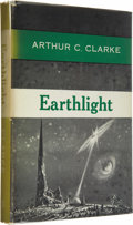 Books:First Editions, Arthur C. Clarke: Earthlight (New York: Ballantine Books,1955), first edition, 186 pages, green cloth with blue titles,...(Total: 1 Item)