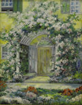 Texas:Early Texas Art - Impressionists, VIRGINIA BETTS (1880-1942). House in River Oaks, Houston.Oil on board. 19in. x 15in.. Signed lower left. A Texas arti...