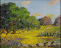 Texas:Early Texas Art - Impressionists, CLARA PANCOAST (1872-1959). Coreopsis and Prickly Pear,1930's. Oil on canvasboard. 16in. x 20in.. Signed lower right. ...