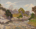Paintings, WALTON LEADER (1876-1966). Bohl's Crossing Scene on Barton Creek, 1930's. Oil on canvas. 25in. x 31in.. Signed lower rig...