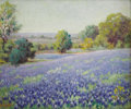Paintings, MARY SMITH (dec.). Untitled Bluebonnet Landscape, 1930's. Oil on canvasboard. 10in. x 12in.. Signed lower left. Mary S... (Total: 1 Item Item)