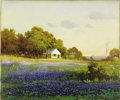 Paintings, ROBERT WILLIAM WOOD (1889-1979). Landscape with Bluebonnets. Oil on canvas. 20in. x 24in.. Signed lower left. An Engli...
