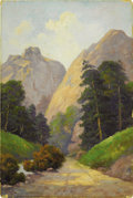 Texas:Early Texas Art - Impressionists, ROBERT WILLIAM WOOD (1889-1979). Pillars of Hercules, So.Cheyenne Canyon. Oil on board. 18in. x 12in.. Signed lowerlef...