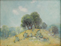 DAWSON DAWSON-WATSON (1864-1939) Hillside with Cactus, 1936 Oil on canvas laid on masonite 16in. x 21in. Signed and
