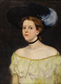 Texas:Early Texas Art - Impressionists, DAWSON DAWSON-WATSON (1864-1939). Portrait of a Lady, 1897.Oil on canvas. 28.5in. x 21in.. Signed and dated upper right...