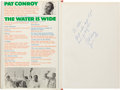 Books:Biography & Memoir, Pat Conroy. The Water is Wide. Houghton Mifflin, 1972. Firstedition. Warmly inscribed by Conroy. From a priva...