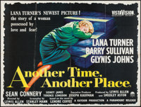 "Another Time, Another Place (Paramount, 1958). British Quad (30"" X 40""). Drama"