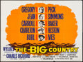 """Movie Posters:Western, The Big Country (United Artists, 1958). British Quad (30"""" X 40""""). Western.. ..."""
