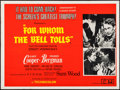 "Movie Posters:War, For Whom the Bell Tolls (Universal, R-1970s). British Quad (30"" X40""). War.. ..."