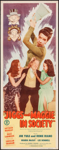"Movie Posters:Comedy, Jiggs and Maggie in Society (Monogram, 1948). Insert (14"" X 36""). Comedy.. ..."
