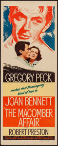 "Movie Posters:Drama, The Macomber Affair (United Artists, 1947). Insert (14"" X 36""). Drama.. ..."