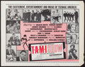 """Movie Posters:Rock and Roll, The T.A.M.I. Show (American International, 1964). Half Sheet (22"""" X28""""). Rock and Roll.. ..."""