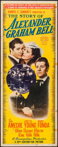 "Movie Posters:Drama, The Story of Alexander Graham Bell (20th Century Fox, 1939). Insert (14"" X 36""). Drama.. ..."