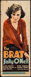 "Movie Posters:Comedy, The Brat (Fox, 1931). Insert (14"" X 36""). Comedy.. ..."