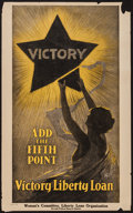 "Movie Posters:War, War Propaganda Poster (U.S. Government Printing Office, 1919).World War I Poster (17.5"" X 28"") ""Victory, Add the Fifth Poin..."