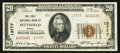 National Bank Notes:Maine, Pittsfield, ME - $20 1929 Ty. 2 The First NB Ch. # 13777. ...