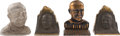 Football Collectibles:Others, Circa 1930 Knute Rockne Door Stops Lot of 4....