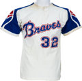 Baseball Collectibles:Uniforms, 1972 Earl Williams Game Worn Atlanta Braves Jersey....