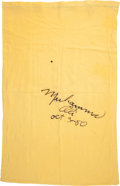 Autographs:Baseballs, 1980 Muhammad Ali Signed Pillow Case with Photograph....