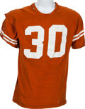 Football Collectibles:Uniforms, 1969 Steve Wooster Game Worn University of Texas Longhorns Jersey. ...