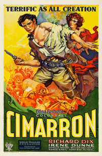 "Cimarron (RKO, 1931). One Sheet (27"" X 41.5"")"
