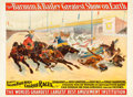 "Movie Posters:Miscellaneous, Barnum and Bailey: Furious Two and Four-Horse Chariot Races(Strobridge Litho Co., 1895). Poster (30.5"" X 40"").. ..."