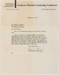 Autographs:Celebrities, Martin Luther King Jr. Typed Letter Signed.... (Total: 2 Items)