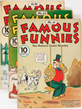 Golden Age (1938-1955):Miscellaneous, Famous Funnies Box Lot (Eastern Color, 1938-55)....