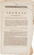 Miscellaneous:Booklets, [Revolutionary War]. Imprint: A Journal of the Honorable House of Representatives . . . of Massachusetts-Bay in New Engl...