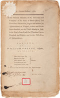 Miscellaneous:Booklets, [Revolutionary War]. Imprint: At the General Assembly of the Governor and Company of the State of Rhode-Island and Provi...