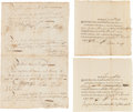 Autographs:Military Figures, [Revolutionary War]. Pay Orders for Artificer Luther Parmele, November 10, 1782.... (Total: 3 )