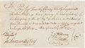Autographs:Military Figures, [Revolutionary War]. Pay Order for Captain Timothy Cheney, 1777....