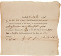 Autographs:Military Figures, [Revolutionary War]. Joseph Belcher Document Signed....