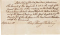 Autographs:Military Figures, [Revolutionary War]. Pay Order for Colonel Israel Angell, 1777....