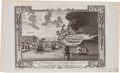 Miscellaneous:Broadside, [Revolutionary War]. Engraving: View of The Attack on Bunker'sHill, with the Burning of Charles Town, June 17, 1775...