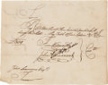 Autographs:Military Figures, [Revolutionary War]. Pay Order for Captain Peter Perrit, 1779....