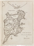 Miscellaneous:Maps, [Revolutionary War]. Map: A New and Correct Plan of the Town ofBoston. ...