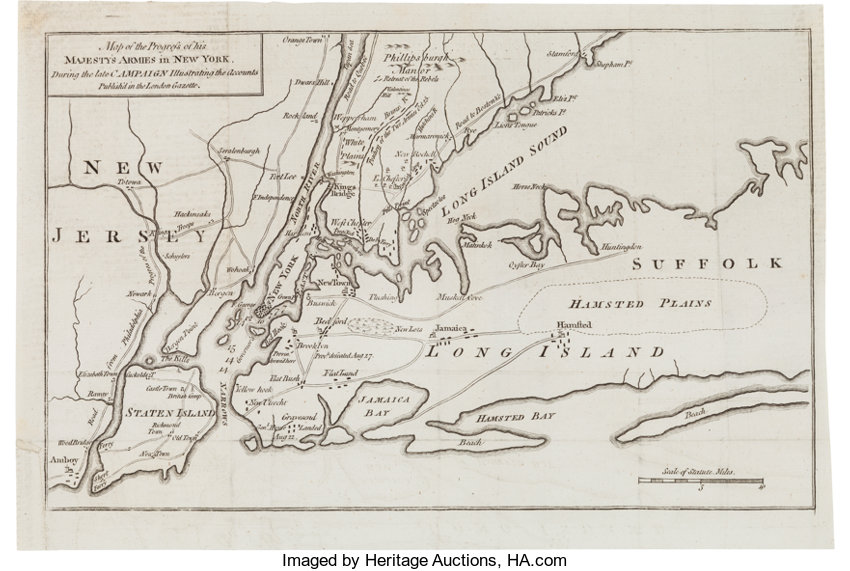 Map Of New York During American Revolution.Revolutionary War Map Of The Progress Of His Majesty S Armies In