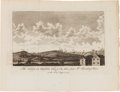 Miscellaneous:Ephemera, [Revolutionary War]. Engraving: The Siege of Rhode Island takenfrom Mr. Brindley's House, on the 25th of August 1778...