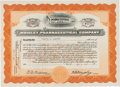 Autographs:Inventors, William W. Wrigley Stock Certificate Signed...