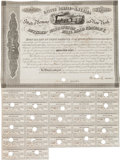 Miscellaneous:Ephemera, Rutland & Washington Rail Road Company Bond Certificate,...