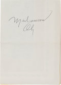 Autographs:Celebrities, Muhammad Ali Signature...