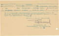 Autographs:Military Figures, Erwin Rommel Document Signed...