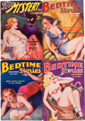 Pulps:Miscellaneous, Bedtime Stories/Spicy Mystery Stories Group (Hersey/Culture,1935-37).... (Total: 4 Illustration Art)