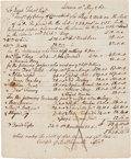 Autographs:Statesmen, [French and Indian War]. Jonathan Trumble (Trumbull) Document TwiceSigned....