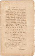 Miscellaneous:Ephemera, [Revolutionary War]. Laws and Resolves of Rhode Island, May1779....